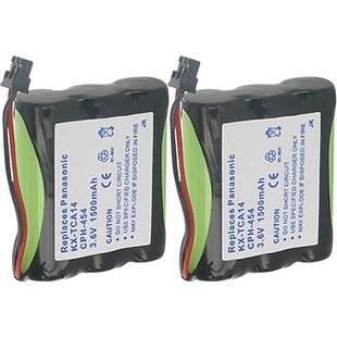 Replacement Panasonic KX-TG200CB NiMH Cordless Phone Battery - 1500mAh / 3.6v (2 Pack)