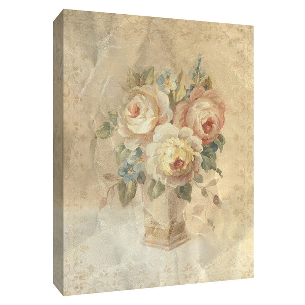 """PTM Images 9-154563 PTM Canvas Collection 10"""" x 8"""" - """"Faded White Roses"""" Giclee Roses Art Print on Canvas"""
