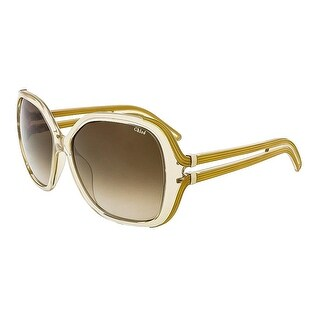 Chloe Womens Square Sunglasses Oversized UV Protection - Champagne - o/s