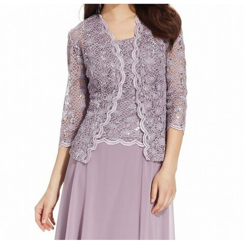R&M Richards Women Sequined Lace Bolero Shrug Jacket