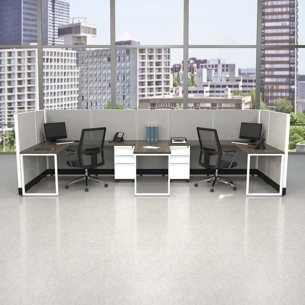 Commercial Office Furniture 53H 2pack Bullpen Powered. Opens flyout.