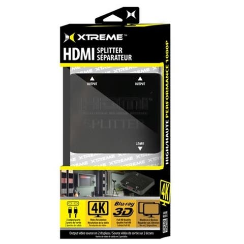 Xtreme Xhv1-1016-Blk Hdmi 2-Way Splitter Black