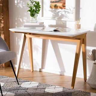 Link to Safavieh Reid Mahogany Wood Writing Desk Similar Items in Computer Desks
