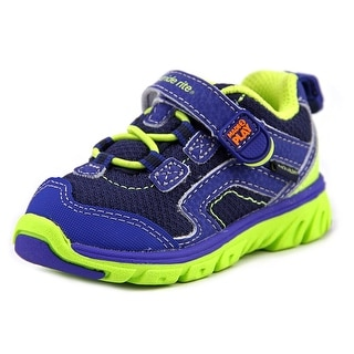 Stride Rite M2P Baby Jake Round Toe Leather Sneakers