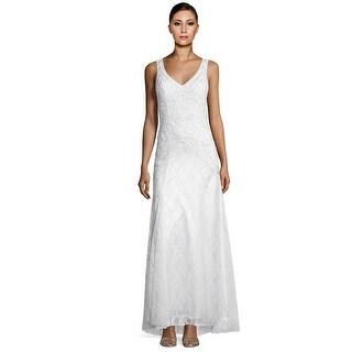 Sue Wong Sleeveless Beaded Embellished Lace Mermaid Evening Gown Dress - 4