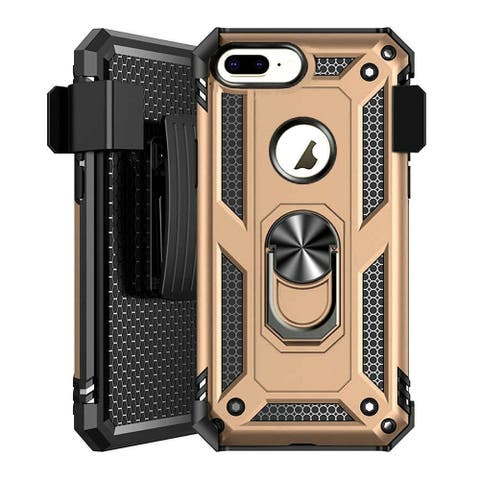For Apple iPhone 7 Plus/8 Plus Gold Hard Hybrid Case Cover