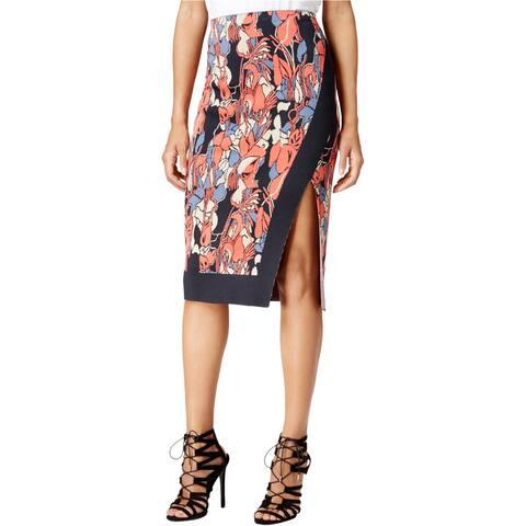 Rachel Roy Womens Floral Pencil Skirt, blue, XX-Large