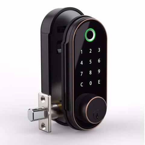 Barska Biometric Keypad Door Lock - Black