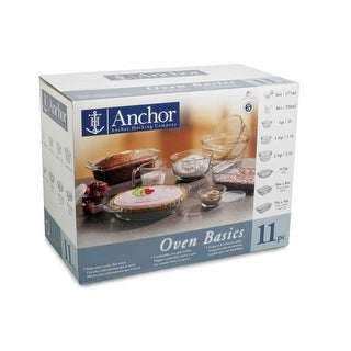 Anchor Hocking 11-Piece Glass Bakeware Set Clear 82643Obl5