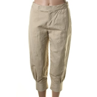 Catherine Malandrino Womens Twill Pleated Cropped Pants - 40