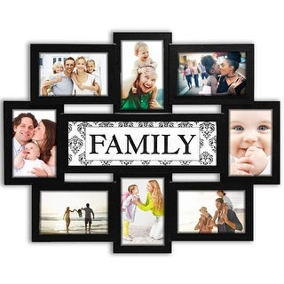"""Hello Laura -Family 8 Opening Wall Hanging Photo Frame 6"""" x 4"""" Photo - N/A"""