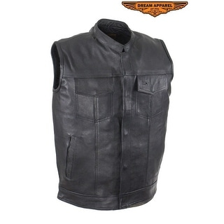 Mens Motorcycle Club Vest With Black Line Size 38