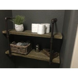Danya B. Two-tier Industrial Pipe Wall Shelf