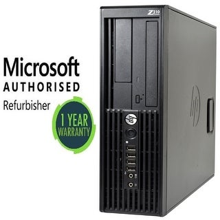 HP Z210 SFF i7 2600 16GB 240GB SSD DVD WiFi W10P Refurbished
