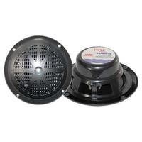 Pyle PLMR61B 120 Watts 6.5 in. Dual Cone Black Marine Speakers