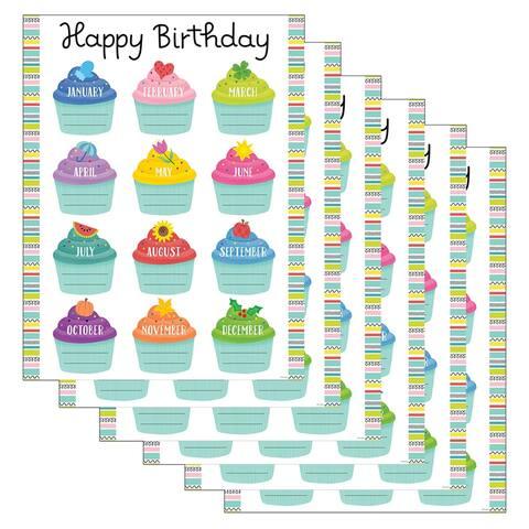 (6 Ea) Color Pop Birthday Chart