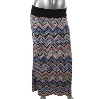 Karen Kane Womens Stretch Pattern Maxi Skirt - M