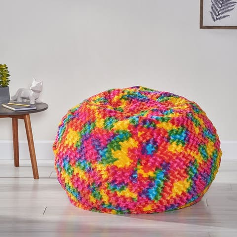 Malaby Modern Glam 3 Foot Tie-Dye Bean Bag by Christopher Knight Home
