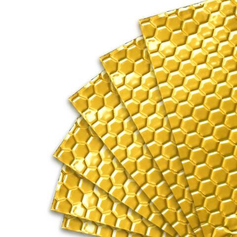 10pcs Gold Tone 80mil 40sqft Car Sound Deadener Noise Heat Insulation Mat