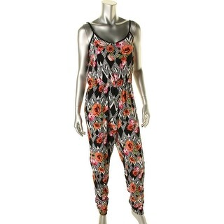 Minkpink Womens Sleeveless Floral Print Jumpsuit - S
