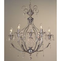 """Classic Lighting 16116-CH 30"""" Crystal Chandelier from the Sharon Collection"""