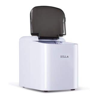 DELLA Portable Ice Maker Machine 26lbs Capacity per Day Black / Stainless Steel / Red / White