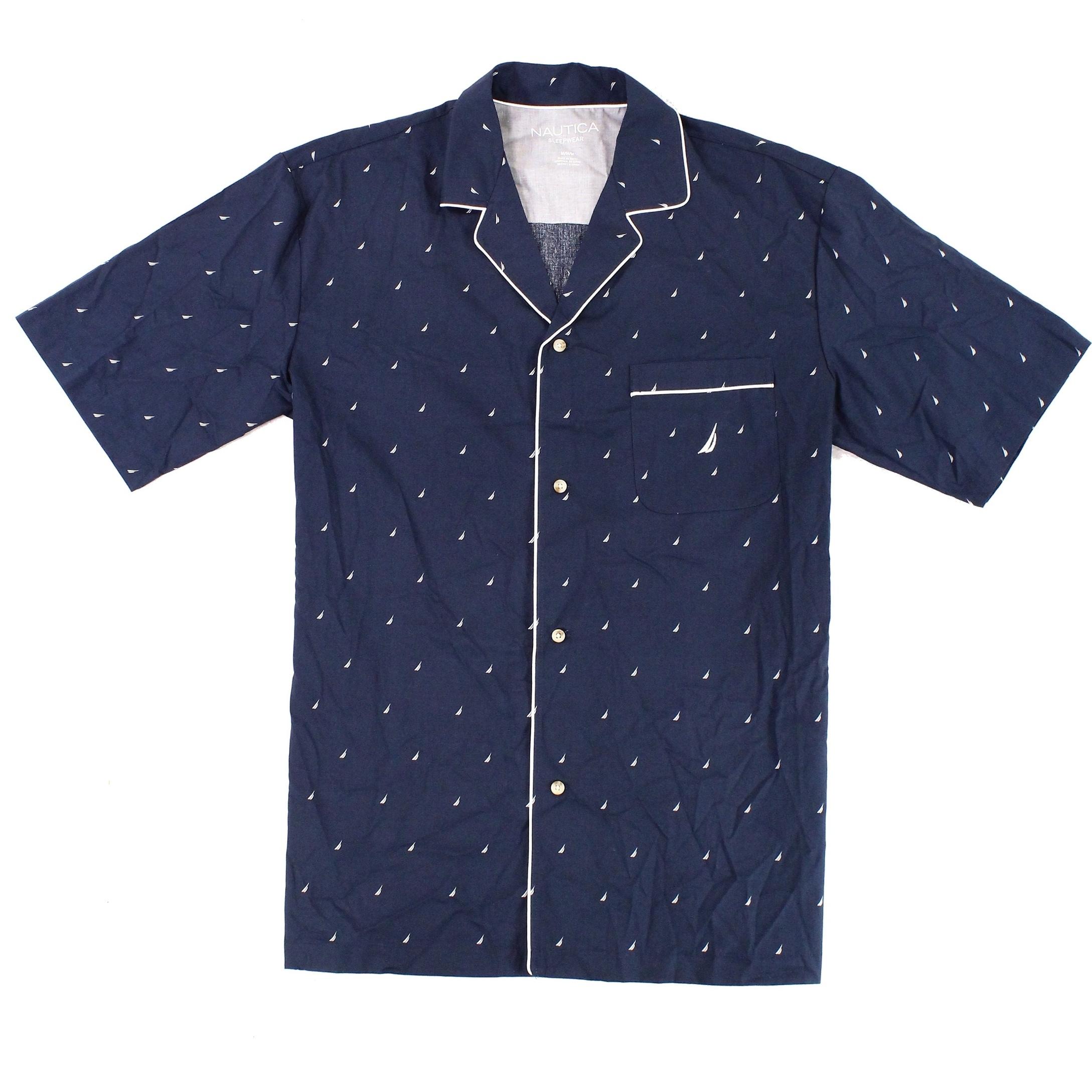9755ef7d55 Shop Nautica Blue Mens Medium M Sail Boat Print Sleepwear Pajama Shirt -  Free Shipping On Orders Over  45 - Overstock.com - 22472228