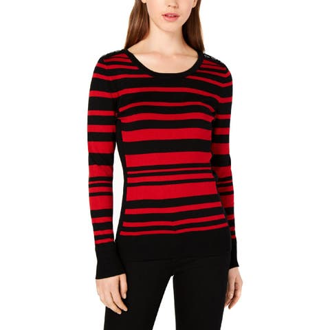 BCX Womens Pullover Sweater Striped Crew Neck - XS