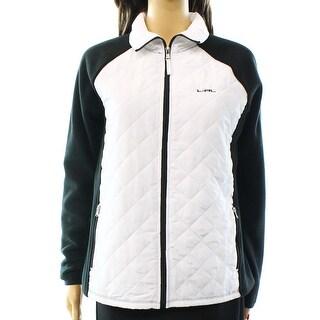 Lauren Ralph Lauren Active NEW White Black Womens Size Medium M Jacket