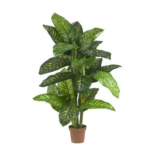 Nearly Natural 5' Dieffenbachia Silk Plant - Real Touch Green