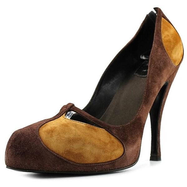 Roger Vivier Débora Women Pointed Toe Suede Brown Heels
