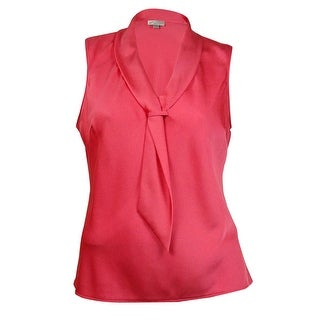 Tahari Women's Tie Neck Blouse