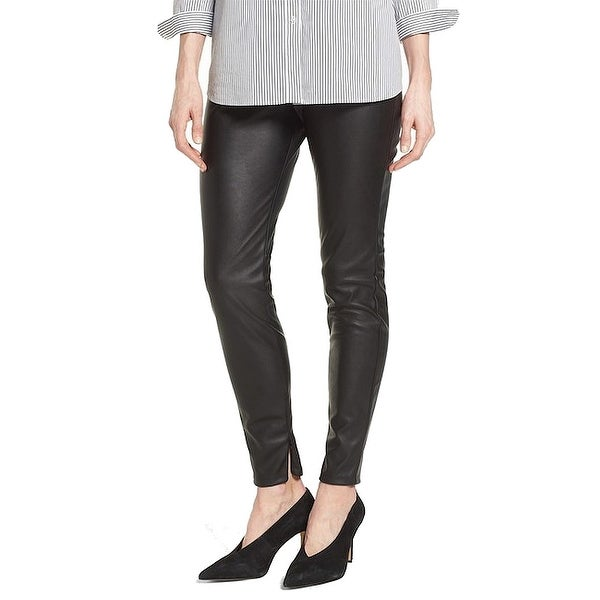 f058172168 Halogen Black Womens Size Medium M Stretch Faux-Leather Leggings