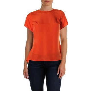 MICHAEL Michael Kors Womens Blouse Peplum Short Sleeves