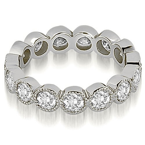 2.10 cttw. 14K White Gold Round Diamond Eternity Ring,HI,SI1-2