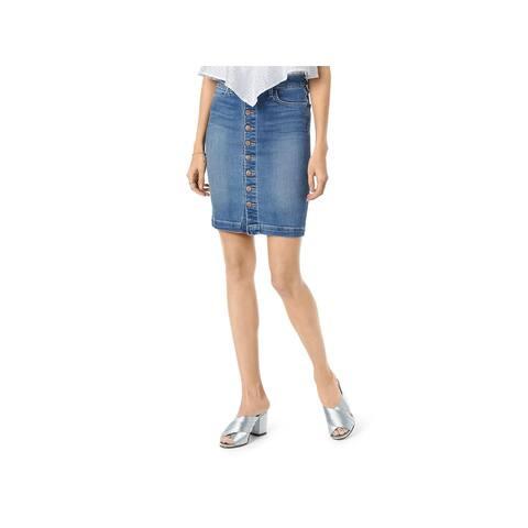 Joe's Womens Pencil Skirt Denim Button Front - Kerrigan - 25