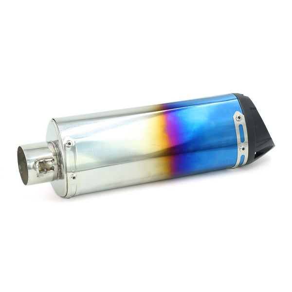 Shop Bluing 48mm Inlet Street Bike Motorbike Exhaust Pipe Removable
