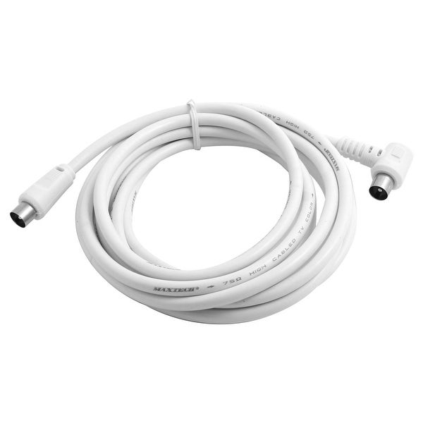 Elbow Plug Design PAL Male to Male TV Signal Aerial RF Cable Cord 3 Meters Long