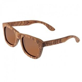Spectrum Cipes Unisex Wood Sunglasses - 100% UVA/UVB Prorection - Polarized Lens - Multi