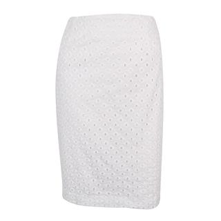 Nine West Women's Pencil Eyelet Skirt