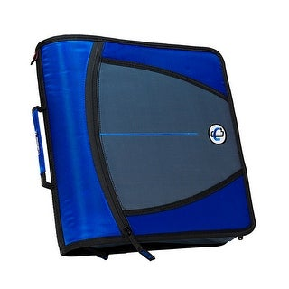 Case-It Mighty Zip Tab O-Ring Binder, Blue, 3 Inches