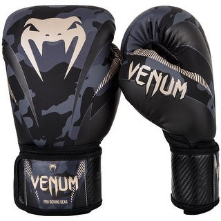 Venum Impact Hook and Loop Training Boxing Gloves - Dark Camo/Sand