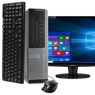 Dell 7010 Intel  i5 8GB 500GB HDD Windows 10 Home WiFi Desktop PC - Black
