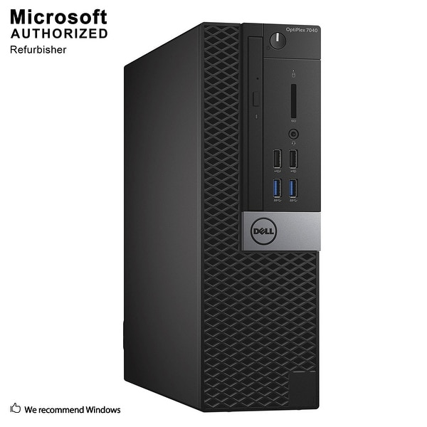Dell Optiplex 7040 SFF Intel i5-6500 3.20GHz, 8GB RAM, 3TB HDD, DVD, WIFI, BT 4.0, HDMI Adapter, DP, WIN10P64(EN/ES)-Refurbished