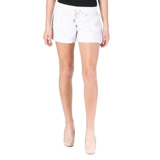 Juicy Couture Black Label Womens Lace Cotton Casual Shorts - L