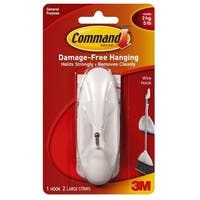 Command 17069 Wire Hook Large, White