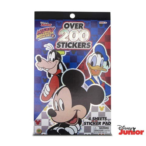 Disney Mickey and The Roadster Racers Sticker Pad with Over 200 Stickers