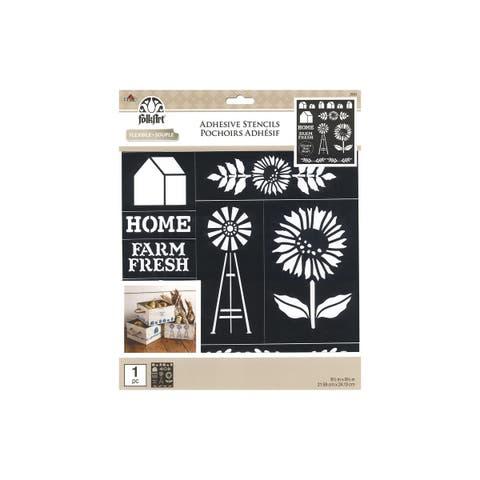 39243 plaid folkart stencil adh 8 5x9 5 farmhouse market