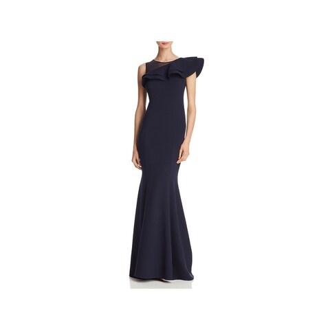 Eliza J Womens Evening Dress Asymemetric Ruffled