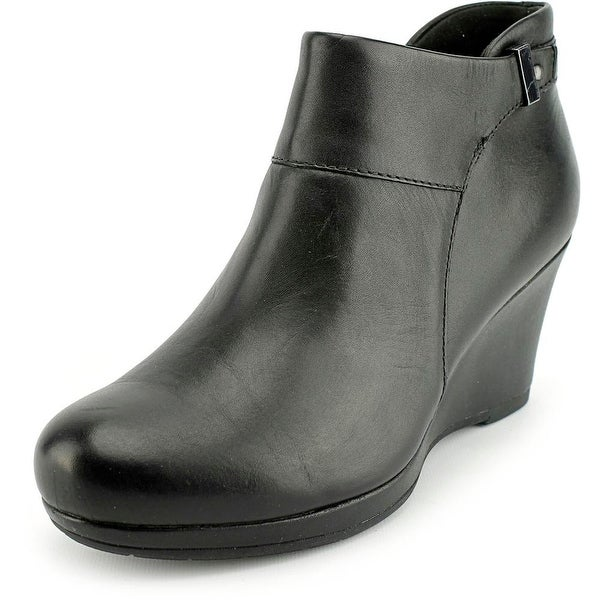 Clarks Narrative Camryn Fiona Women Round Toe Leather Black Bootie